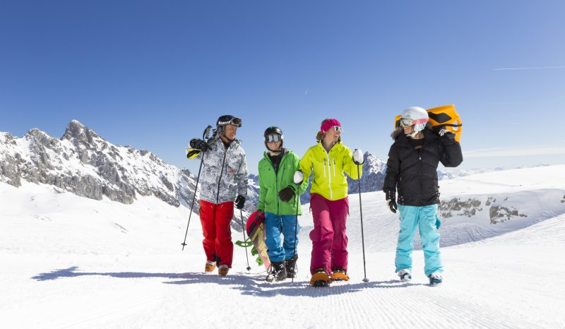 Snowboarder im Skigebiet Zugspitze