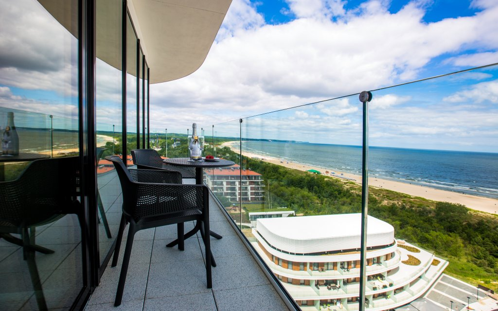 Zimmerausblick auf die polnische Ostsee