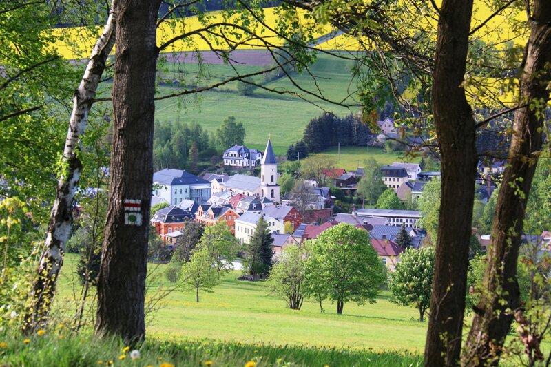 Blick auf Erlbach Vogtland