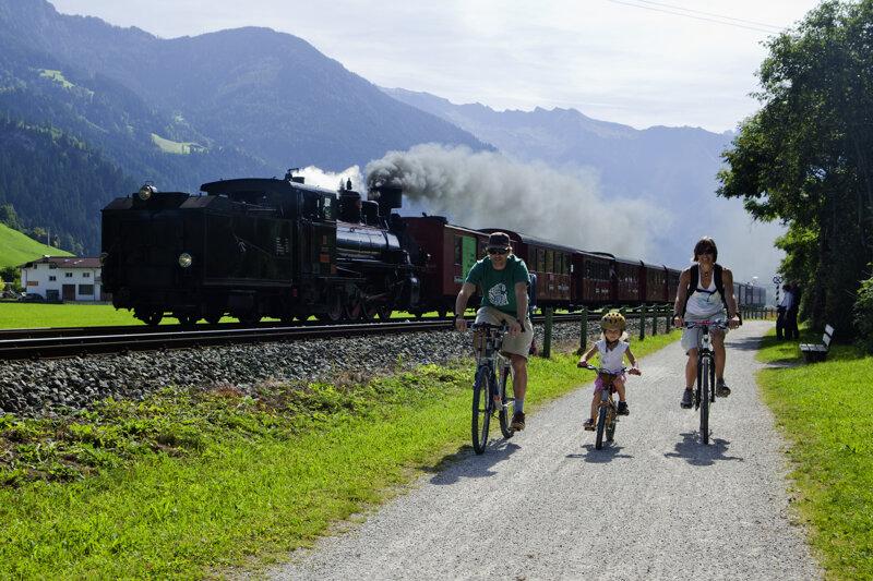 Dampflokradweg im Zillertal
