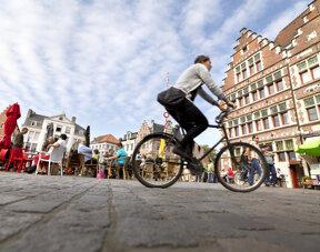 Radfahrer in Gent
