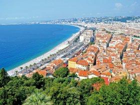 Nice, baie des anges, vue de la colline du château c CRT Côte d'Azur