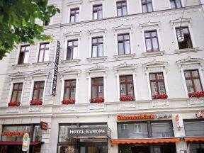 Hotel Europa, Außenansicht Eingangsbereich