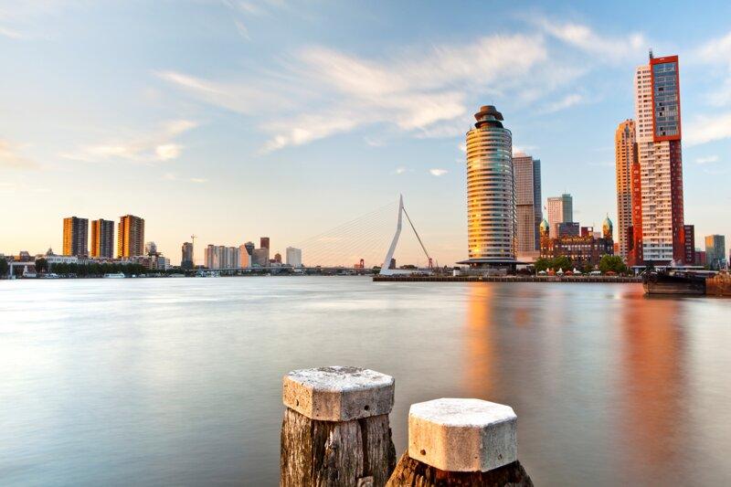 Blick auf Rotterdam von Westen