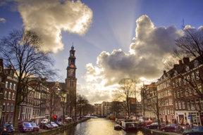 Westerkirceh in Sonnenuntergang