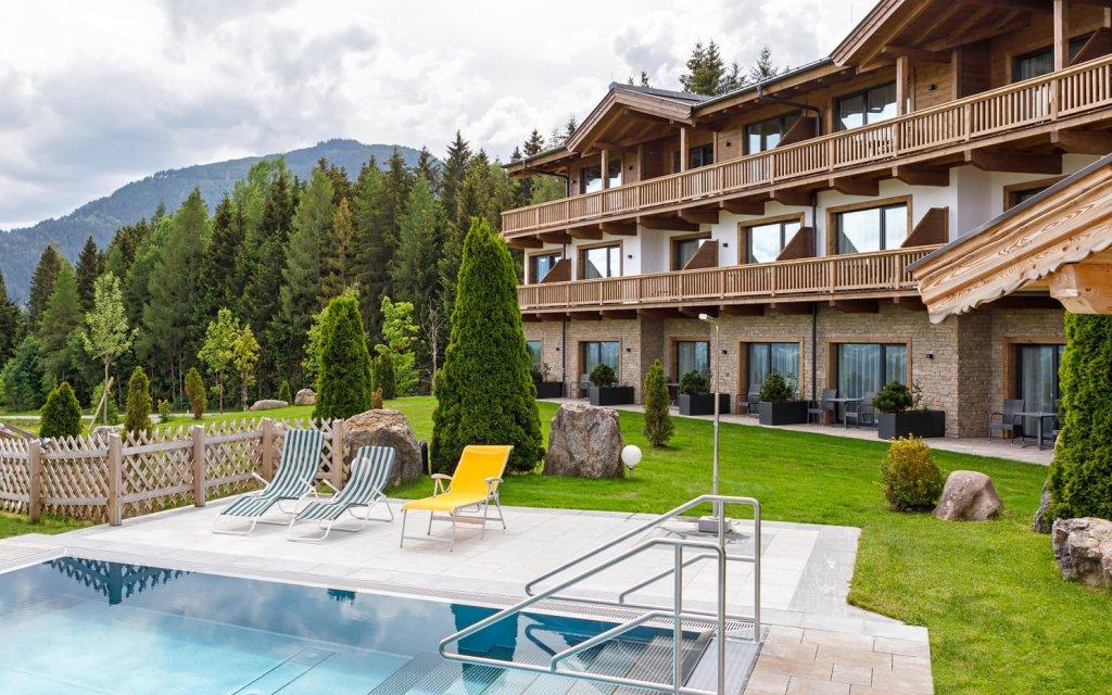 Hotel Leamwirt Hopfengarten aussen Pool