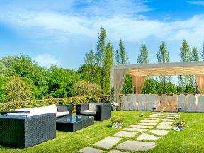 Gartenanlage-Hochzeit
