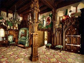 Schlafzimmer im Schloss Neuschwanstein
