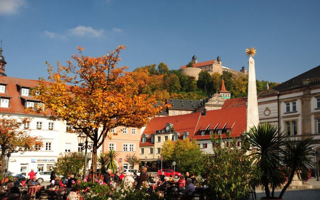 Blick auf die Plassenburg in Kulbach