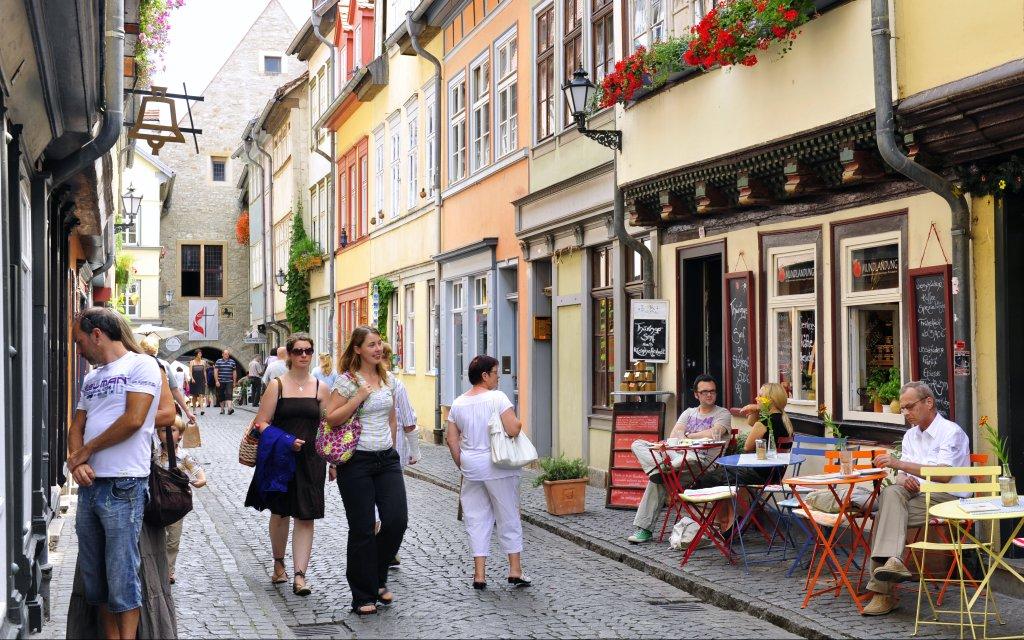 Geschäfte auf der Krämerbrück in Erfurt
