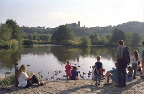 Ruhr Blick auf Blankenstein