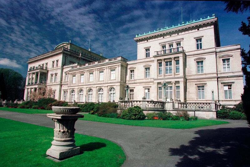 Außenansicht der Villa Hügel in Essen