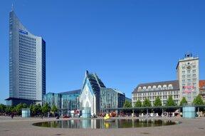 augustusplatz city hochhaus universitaet und krochhaus foto andreas schmidt