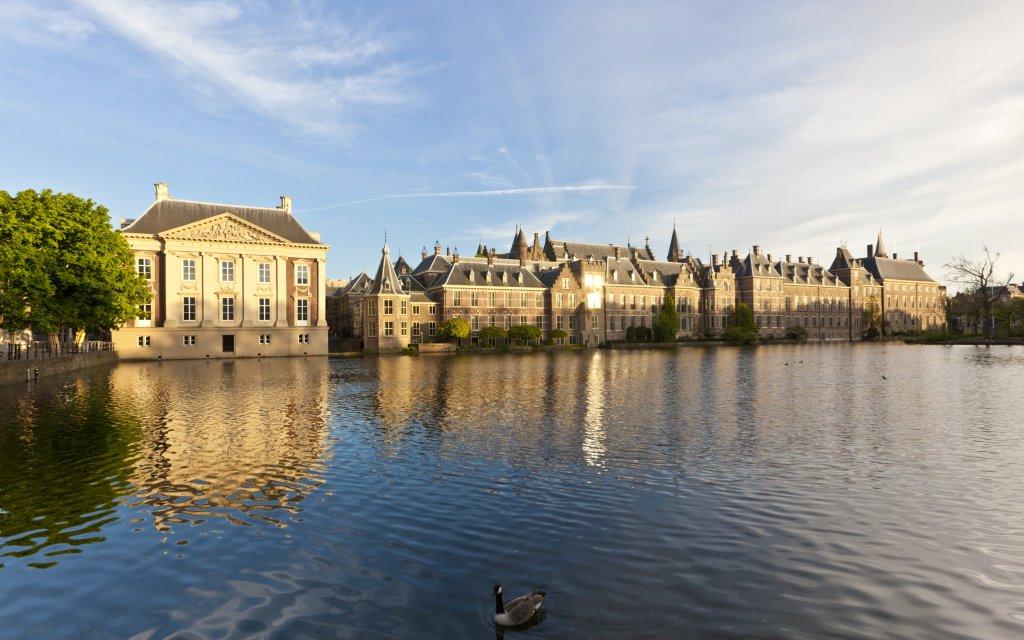 Den Haag Panorama mit Parlament und Mauritshuis