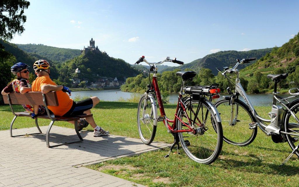 Radfahrer bei Cochem
