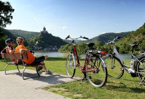 Radfahrer Cochem-Sehl © Tourist-Information Ferienland Cochem
