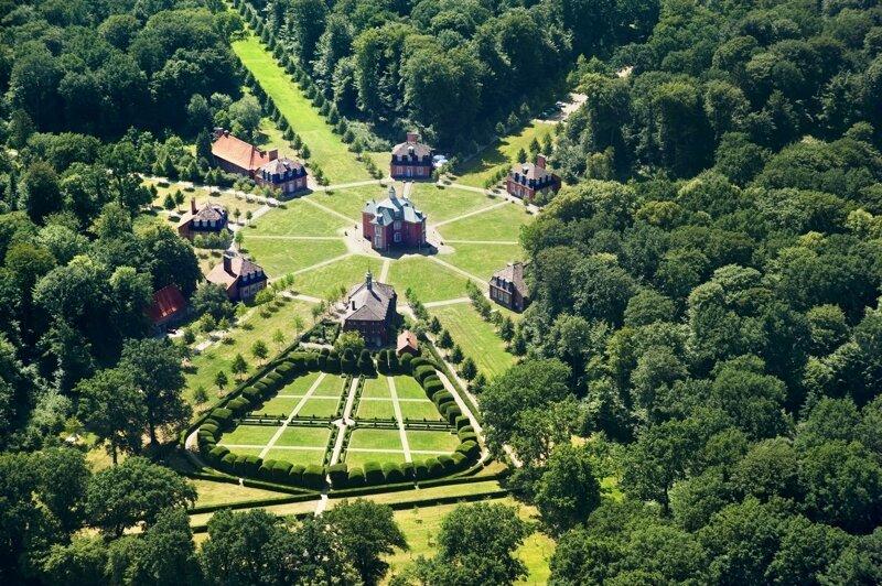 Luftaufnahme Jagdschloss Clemenswerth