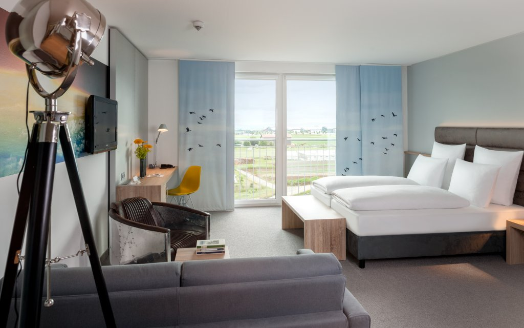 Leinfelden-Echterdingen Dorint Airport-Hotel Stuttgart Zimmer Doppelzimmer