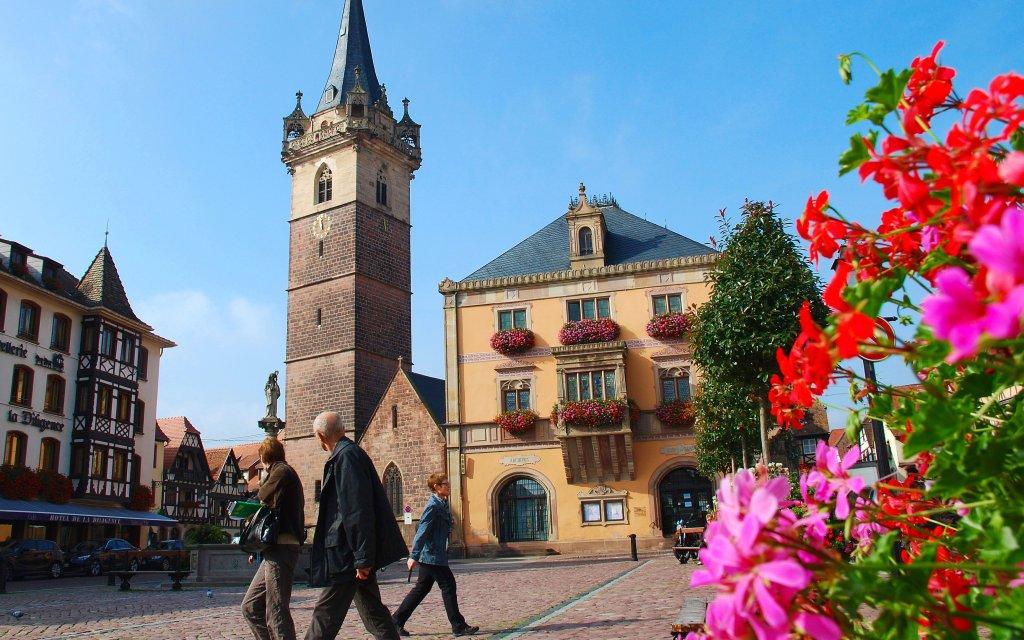 Marktplatz in Obernai im Elsass