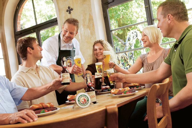 Bierprobe  in der Alpirsbacher Brauwelt