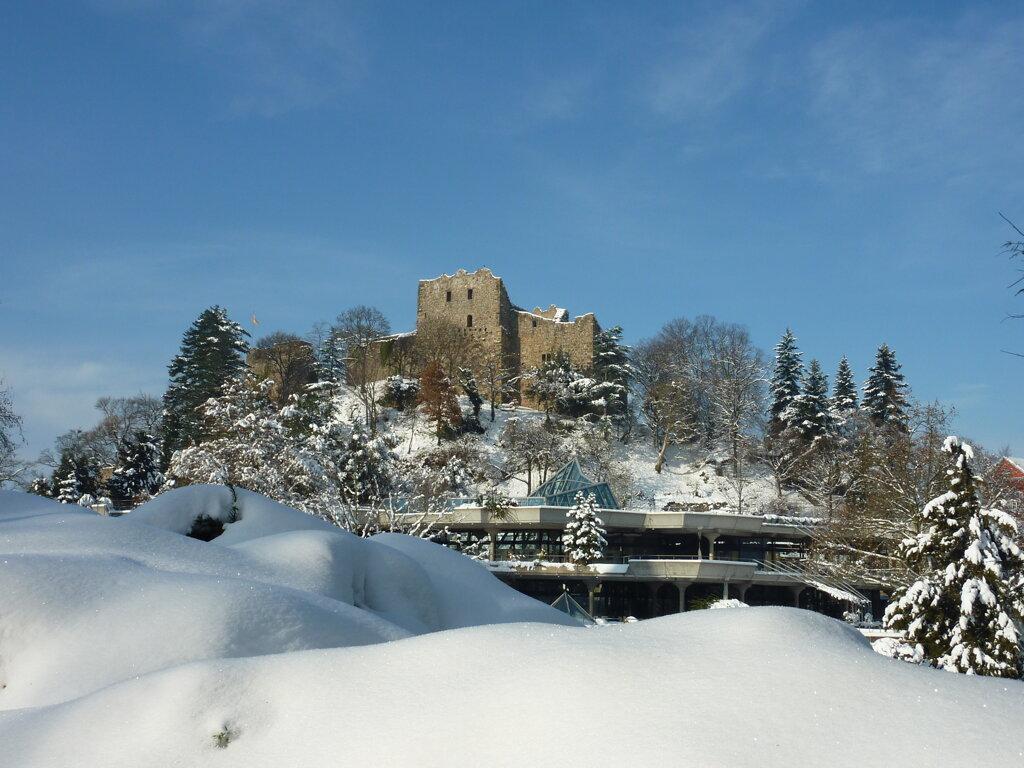 Burg Baden im Schnee