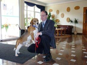 R. Lesser mit Beagle Charly2