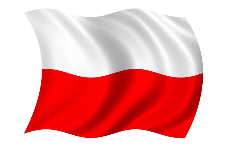 Polnische Nationalflagge
