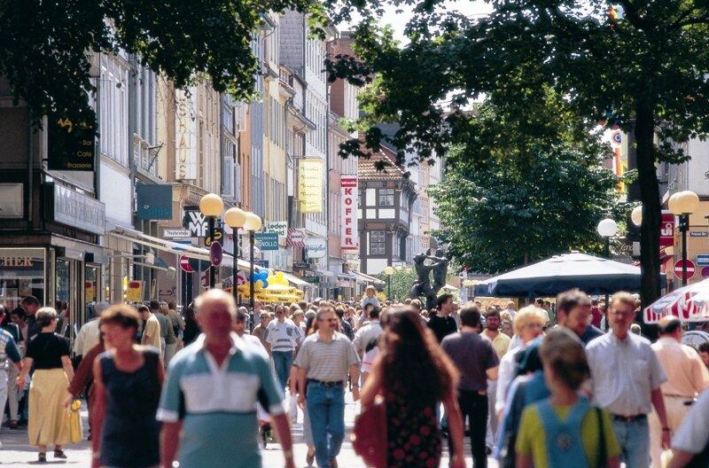 Fußgängerzone Weenderstraße  in Göttingen
