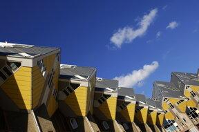 kubische Häuser