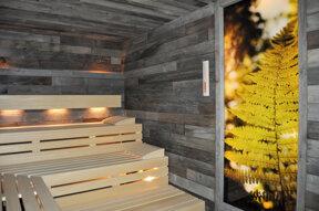 31. Sauna mit Blattwand