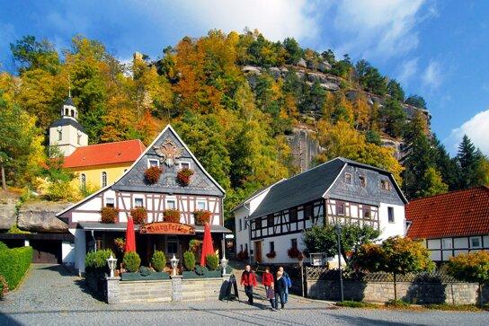 Berg Oybin c Naturpark Zittauer Gebirge