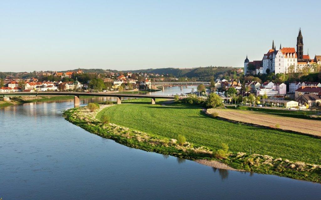Meißen mit Elbe und Albrechtsburg