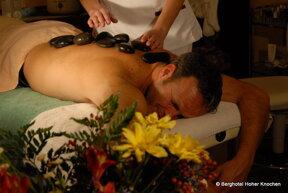 hot stone Massage quer