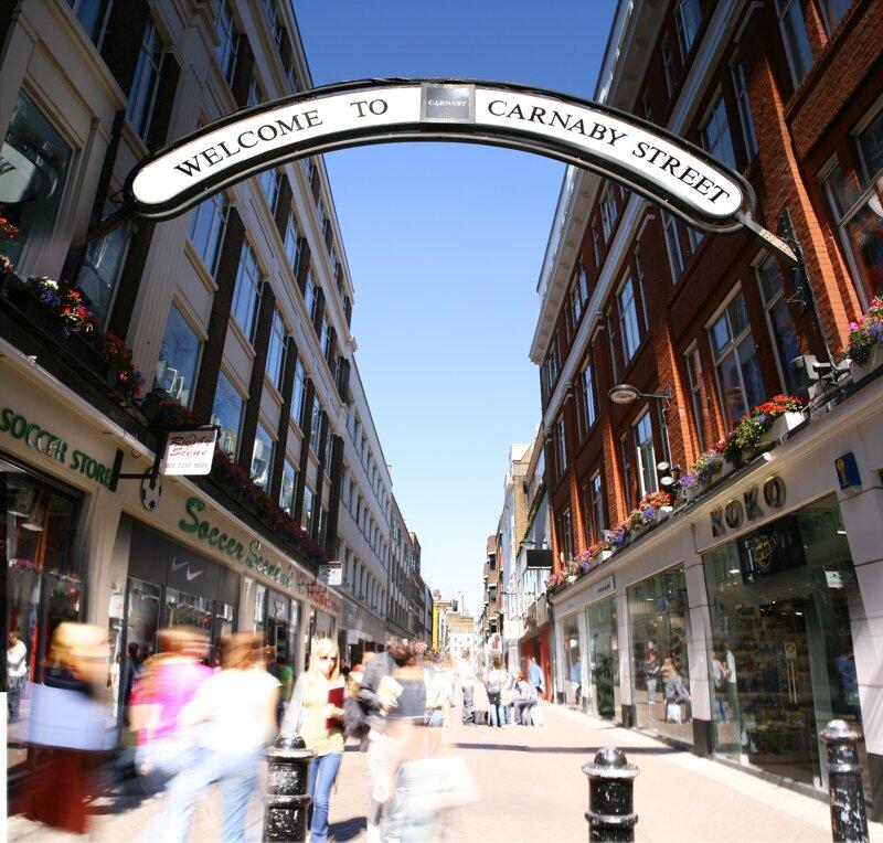Einkaufsstraße Carnaby Street in London