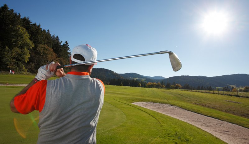 Golfer am Titisee