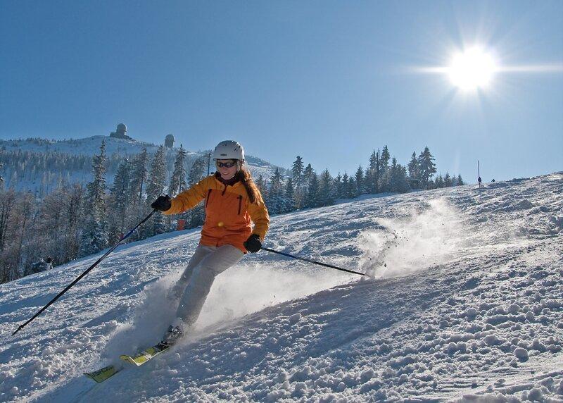 Großer Arber Skifahrer