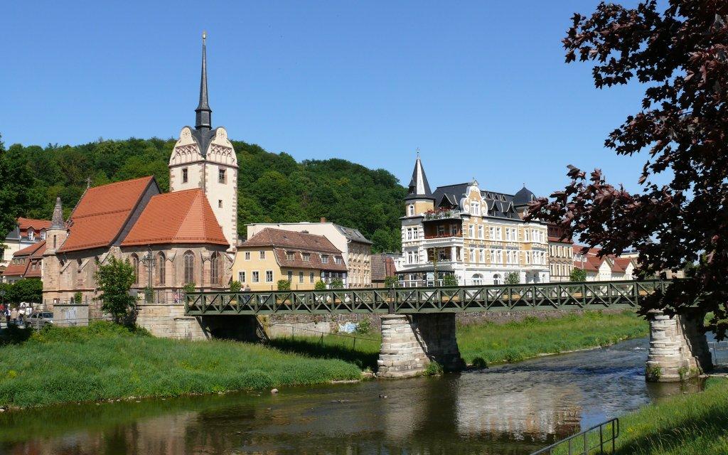 Elster und Marienkirche in Gera