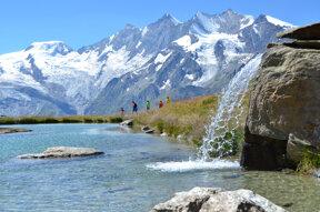 Wasserfall Kreuzbodensee c PHOTOPRESS Saas-Fee