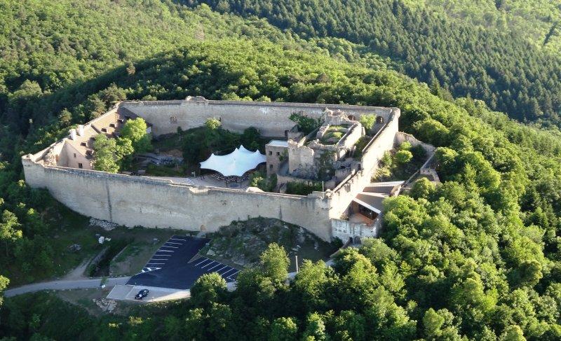 Luftperspektive Château du Hohlandsbourg