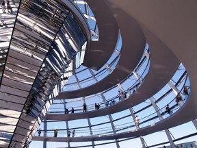 Kuppel des Reichstages von Innen