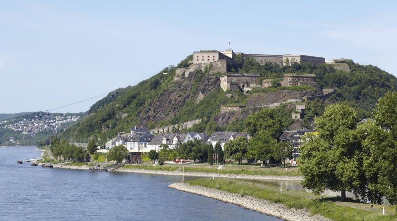 Festung Ehrenbreitstein Luftaufnahme