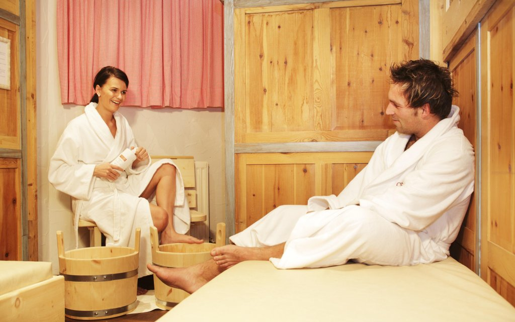 Paar in der Sauna