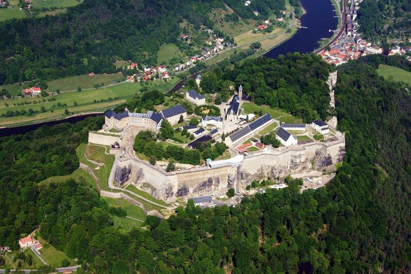 Festung Königstein - Vogelperspektive