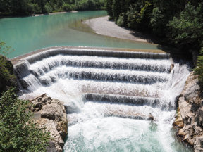 küsntlicher Wasserfall Lech