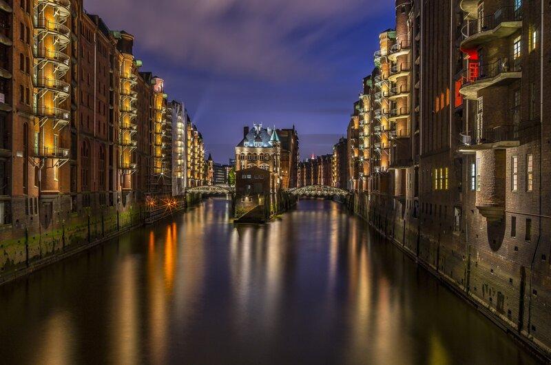 Speicherstadt Nacht©Pixabay