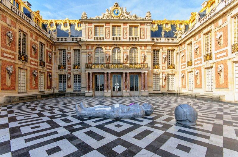 Hof vom Schloss Versailles