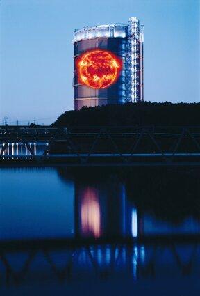 Gasometer mit Sonne