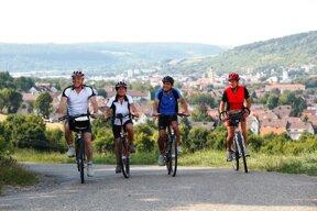 Radfahrer über Bad Mergentheim c Stadt Bad Mergentheim Andi Schmid