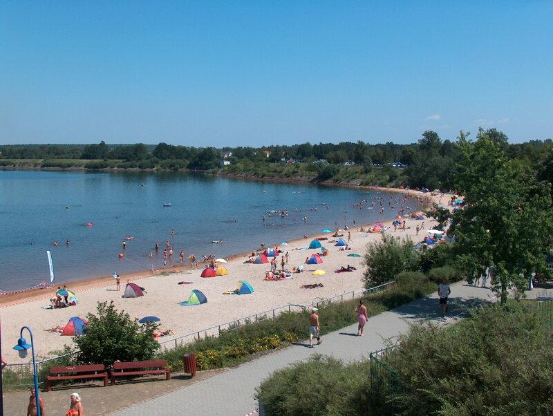 Senftenberger See mit Strand