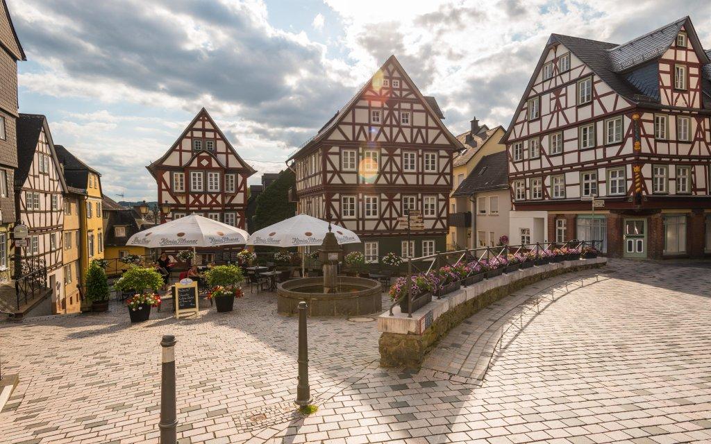 Fachwerkhäuser am Kornmarkt in Wetzler